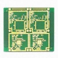 Wholesale 4-layered Printed Circuit Board with 1.6mm Thickness, Made of FR4, Immersion Gold Surface from china suppliers