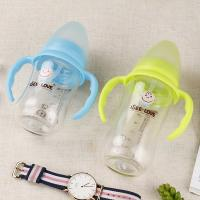 Quality 180ML Baby Glass Water Bottles For Breastfeeding Not Easy Borken LW-1007 for sale