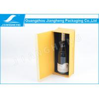 Wholesale Texture Paper Cardboard Single Bottle Wine Box Hot Stamping With Magnetic Closure from china suppliers