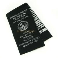 Professional Woven Clothing Tags , Woven Care Labels Tags For Clothes For Business