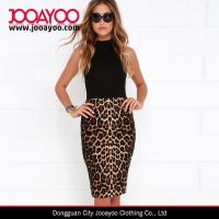 Wholesale Mature Lady Chic Leopard Print Bodycon High-waisted Pencil Skirt from china suppliers