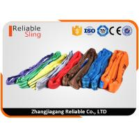 Wholesale Low Stretch Durable Polyester Round Slings Endless High Strength Soft Pipe Lifting Sling from china suppliers