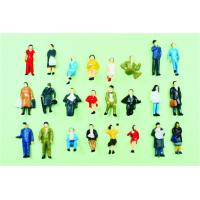 Wholesale P87-24 1:87 HO Architectural Scale Model People Painted Figures 2.0cm from china suppliers