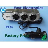 Buy cheap car charger with 12v socket dual usb 2.4a cigarette lighter adapter from wholesalers