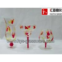 Buy cheap Hand painted glass set, juice glass, margarita glass, brandy glass from wholesalers