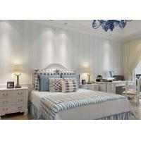 Wholesale Blue and White Stripes Pattern European Style Living Room Wallpaper from china suppliers