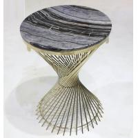 Wholesale stone top Brass stainless steel metal side table/End table/coffee table/C table, hotel furniture,casegoodsTA-0089 from china suppliers
