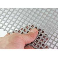 Wholesale Decorative Square Hole Perforated Sheet Metal Type 304 Stainless Steel Extremely Versatile from china suppliers