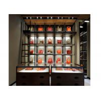 Wholesale 5 Layer Fashion Style Wall Mounted Display Cabinetsspace Saving For Bags Display from china suppliers