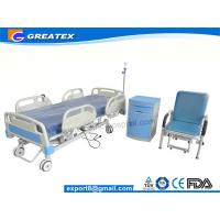 Wholesale Five Function Electric Hospital Bed , Electric Patient Bed ABS footboard / headboard remote control from china suppliers
