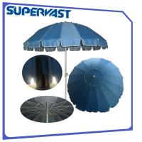 Wholesale Stainless 16-rib Promotional 7-Feet Beach Umbrella with valance from china suppliers
