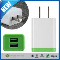 Wholesale Double Port Universal USB Power Adapter , iPhone 6 / 6 Plus / 5s Samsung Travel Wall Charger from china suppliers