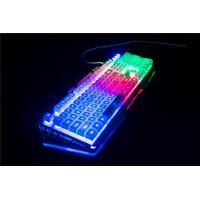 Quality Yuesong backlit wired computer game keyboard light up LED keyboard for sale