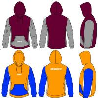 Wholesale Men's Maroon Gold 300gsm Cotton Custom Hooded Sweatshirts Heat Transfer Printing from china suppliers