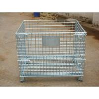 Wholesale Wearhouse, Industrial Galvanized Folding 2MM - 20MM Steel Wire Mesh Storage Cage from china suppliers