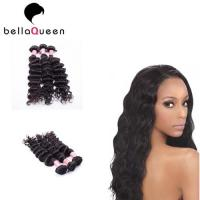 Wholesale Unprocessed 6A+ Virgin Burmese Remy Hair Weave Natural Black Curly from china suppliers