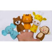 Wholesale Funny Wild Animal Felt Finger Puppets , Cute Monkey Finger Puppets from china suppliers