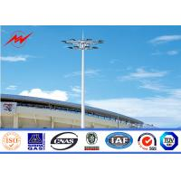 Wholesale 25M Thickness Three Sections High Mast Tower / Sports Light Poles SGS Approved from china suppliers