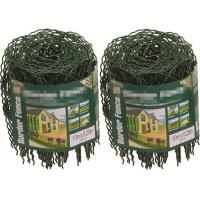 Wholesale Decorative 0.65M / 10M Garden Border Wire Fencing Mesh Roll With Hooped Top from china suppliers