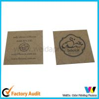 Wholesale Square Brown Kraft Printable Paper Tags with Black Printing , No Surface Finishing from china suppliers
