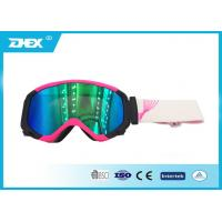 China Outdoor Sport Snow Ski Goggles Anti - Fog Pink TPU Frame PC Lens on sale