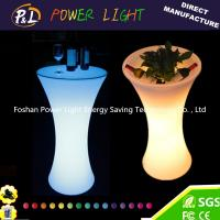 Wholesale Party Decor Leisure Furniture Rechargeable LED Round Poseur Table from china suppliers