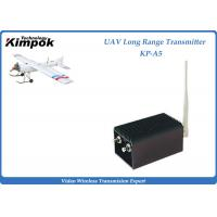 Wholesale 70km UAV Wireless Video Transmitter 1.2Ghz Analog Video Transmitter and Receiver 5W 8 Channels from china suppliers