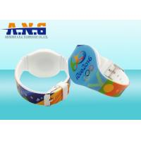 Wholesale 13.56 MHz Adjustable Waterproof Silicone RFID Bracelet For Swimming Pool from china suppliers