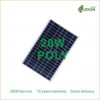 Wholesale 20Wp Small PV Solar Modules Home Applications 20Watt 18VDC Aluminium Frame from china suppliers