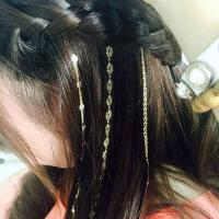 Wholesale Non - Toxic Hair Tattoo Sticker Silver And Gold Custom Designs Different Colors from china suppliers
