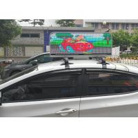 High Resolution P6 1R1G1B LED Taxi Top Advertising Display with Vibration - proof and 5000 nits Brightness