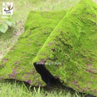 Wholesale UVG landscape decor accessories flocking artificial moss carpet garden synthetic grass mat for indoors use GRS041 from china suppliers