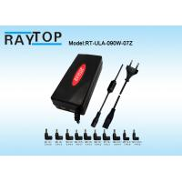 Wholesale Red Color LED Halo 90W Automatic Universal Laptop Charger Dual USB 5V 3.1A 10 Tips from china suppliers