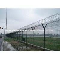 Quality PVC Coated Airport Security Fencing Galvanized Razor Wire 0.5mm-3.0mm Wire Diameter for sale