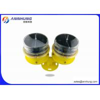 Wholesale Red Solar Powered Led Flashing Lights / Waterproof Tower Warning Lights from china suppliers