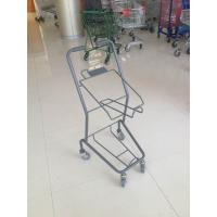 Wholesale Colorful Steel Shopping Basket Trolley With PVC / PU / TPR Wheel from china suppliers