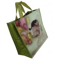 Quality PP Woven Reusable Carrier Bags Both Sides Shining Coats , eco friendly for sale