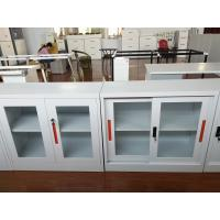 Wholesale China K/D glass door steel cupboard cabinet FYD-W002, H900XW900XD400 mm,white color for office storage file from china suppliers