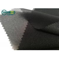 Wholesale White / Black Polyester Plain Weave Woven Fusing Interlining For Garment Accessories from china suppliers