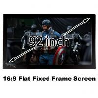 Wholesale Durable Multimedia Cinema Screen 92 Inch Diagonal 16 To 9 Format Flat Fixed Frame Screens from china suppliers