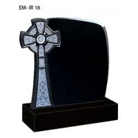 Quality Iceland style tombstone, black granite tombstone for sale