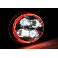 Wholesale Red Halo Ring Dual beam Motorcycles Harley Davidson LED Headlight 5700k from china suppliers