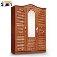Wholesale Custom Swinging Closet Doors PVC Film Pressed With 3 Doors And 2 Drawers from china suppliers