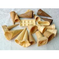 Wholesale Multi Shape Coloured Ice Cream Sugar Cone , Chocolate Covered Waffle Cones from china suppliers