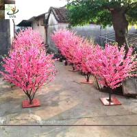 Wholesale UVG small artificial peach blossom wooden tree wedding reception decorations selling products CHR166 from china suppliers