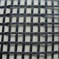 Quality Black Fiberglass Geogrid Geosynthetic Materials 80KN/M For Retaining Wall for sale