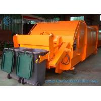 China Horizontal Compression 6x4 Hook Lift Garbage Trucks With Hanging Barrel on sale