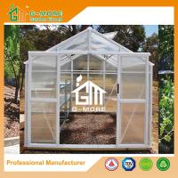 Wholesale 319X253X250CM White Color Imperial Series Double Door Polycarbonate Greenhouse from china suppliers