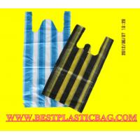 Wholesale Changle LEDA HDPE color stripe t-shirt bag on block from china suppliers
