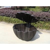 Wholesale Garden Shell Shaped Wicker Rattan Storage Box With UV Resistant from china suppliers
